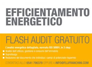 Flash Audit gratuito chiamando il +39 0541 796379