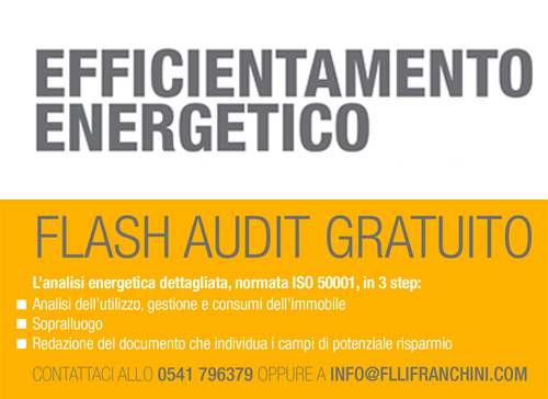 Flash Audit gratuito per interventi di Efficientamento Energetico